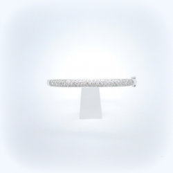 Bracelet jonc or blanc pavage diamants