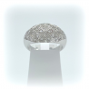 Bague jonc or blanc pavage diamants